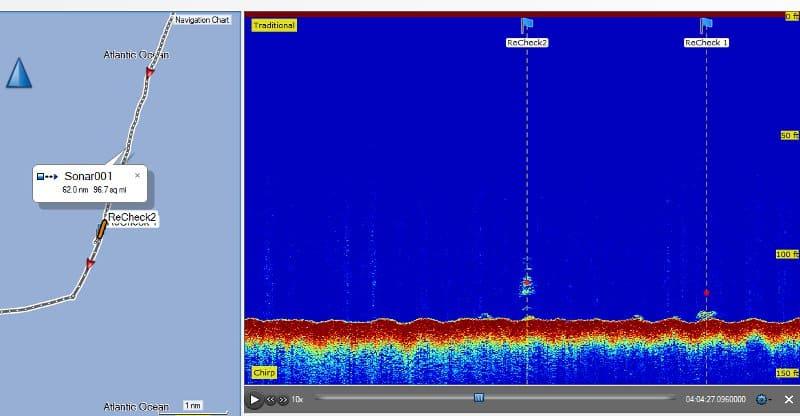 Garmin echoMAP CHIRP 74sv - Sonar Recording