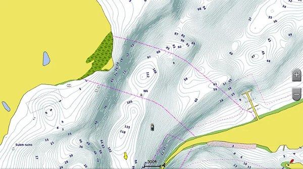 Garmin echoMAP CHIRP 94sv - BlueChart g2 - 1 ft depth contours