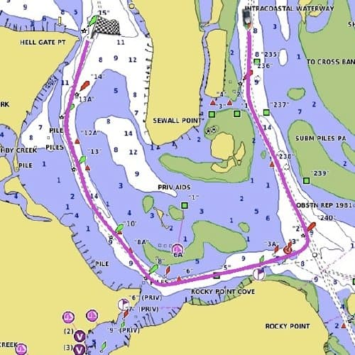 GPSMAP 1242xsv - Chart Auto Guidance