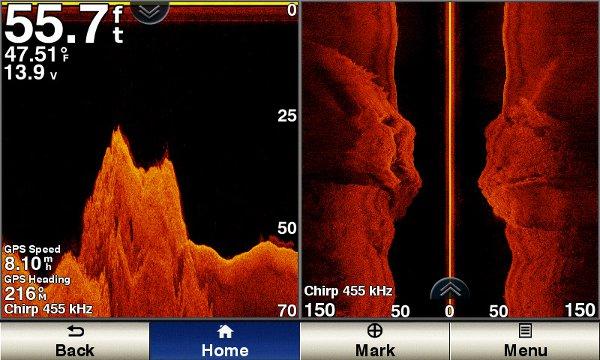 Garmin GPSMAP 1242xsv - SideVu Sonar Shallow