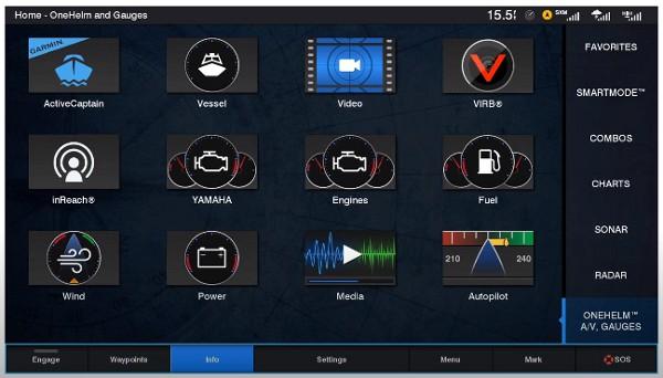 Garmin GPSMAP 1242xsv Touch - Home Screen
