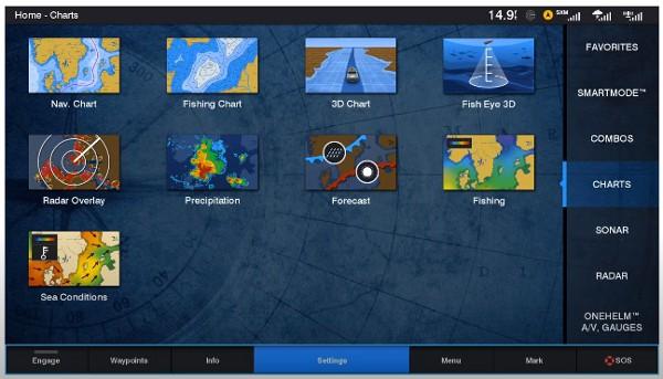 Garmin GPSMAP 1242xsv Touch - Navigation Screen