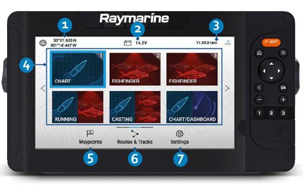 Raymarine Element 12 HV - Lighthouse Sport HomeScreen