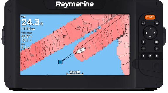 Raymarine Element 12 HV - Live Mapping