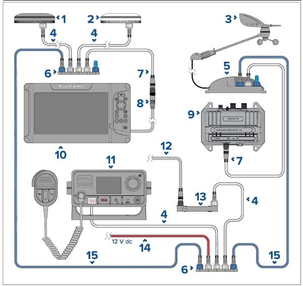 Raymarine Element 12 HV - Seatalkng network