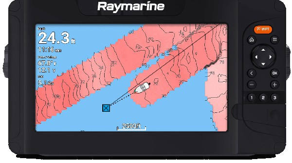 Raymarine Element 12 S - custom bathymetric maps