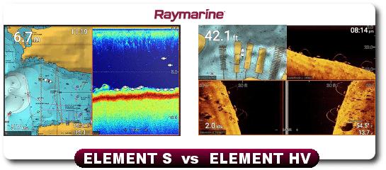 Raymarine Element 12 S vs Element 12 HV