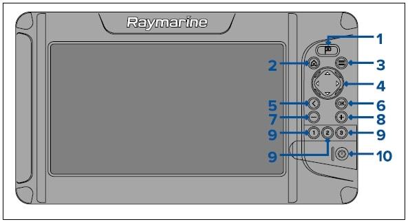 Raymarine Element 9 HV - KeyPad Control