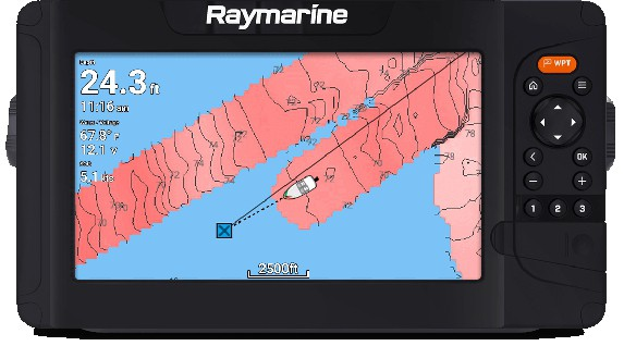 Raymarine Element 9 HV - Live Mapping