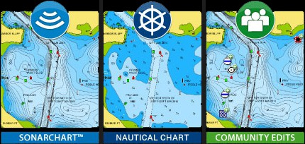 Raymarine AXIOM 12 - Navionics Plus Charts