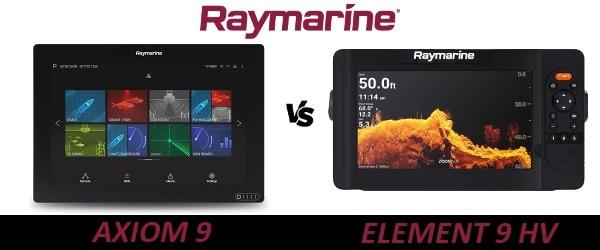 Raymarine AXIOM 9 vs ELEMENT 9 HV