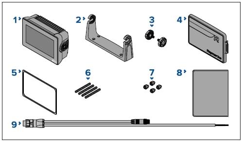 Raymarine Axiom 7 - Whats in the box