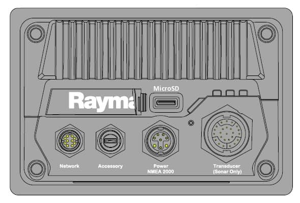 Raymarine Axiom Plus 9 - Rear Connections