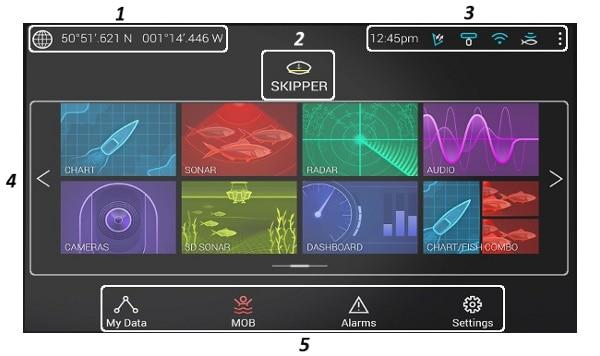 Raymarine AXIOM Plus 7 - Home Screen Apps