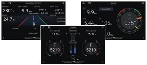 Raymarine Axiom Plus 7 - Dashboard App Features