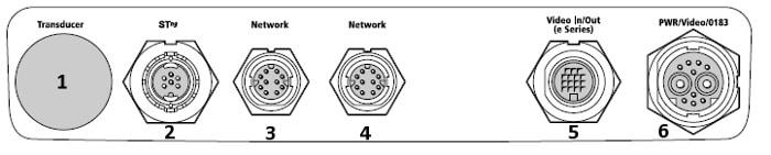 Raymarine e165 - Rear Connections