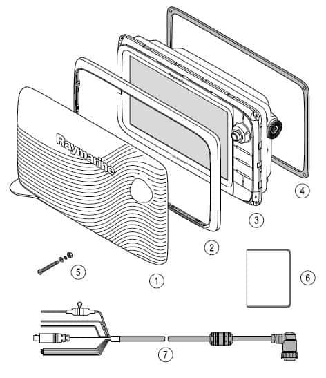 Raymarine c127 - Whats in the box