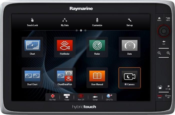 Raymarine e127 - Home Screen Controls