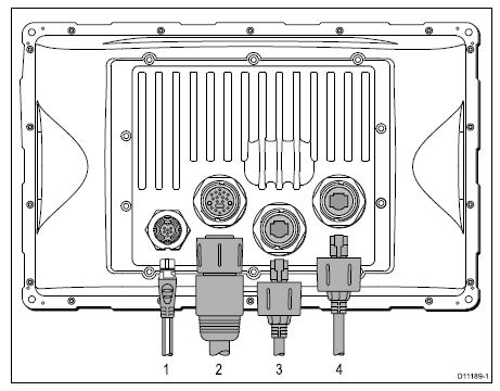 Raymarine C140W - Rear Connections