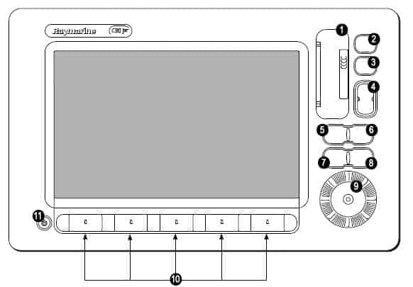 Raymarine C140W - Screen Controls