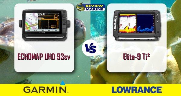 ECHOMAP UHD 93sv and Lowrance Elite-9 Ti² Comparison