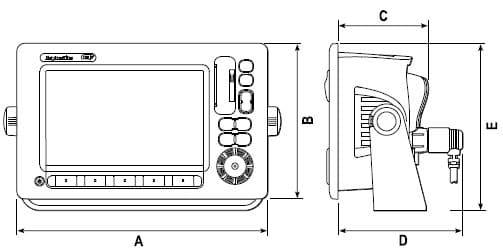 Raymarine E120W - Dimensions