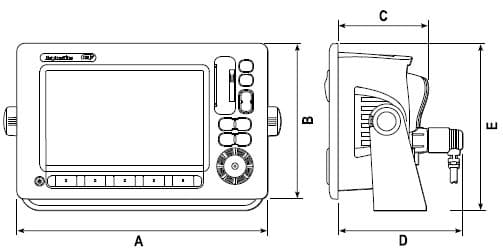 Raymarine E140W - Dimensions