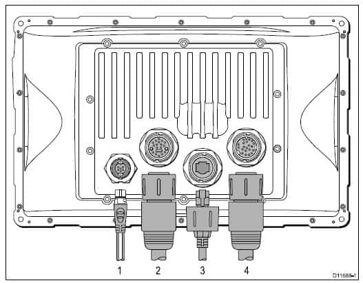Raymarine E140W - Rear Connections