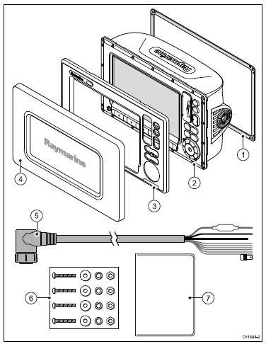 Raymarine E90W - In the Box