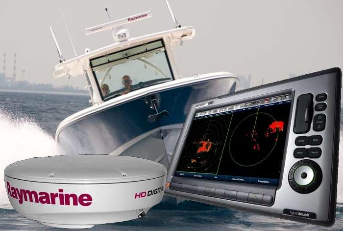 Raymarine E90W Radar Options