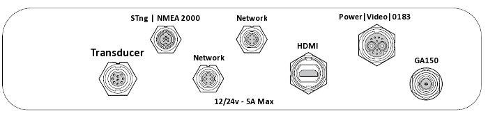 Raymarine eS127 - Rear Connections