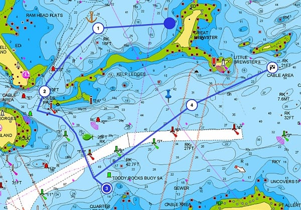 Raymarine eS128 - Navionics Charts