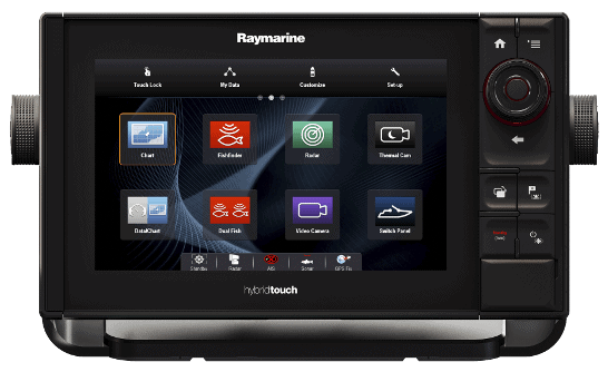 Raymarine eS75 Screen Controls