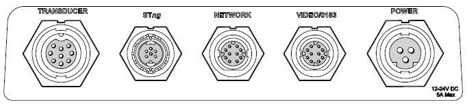 Raymarine eS78 - Rear Connections