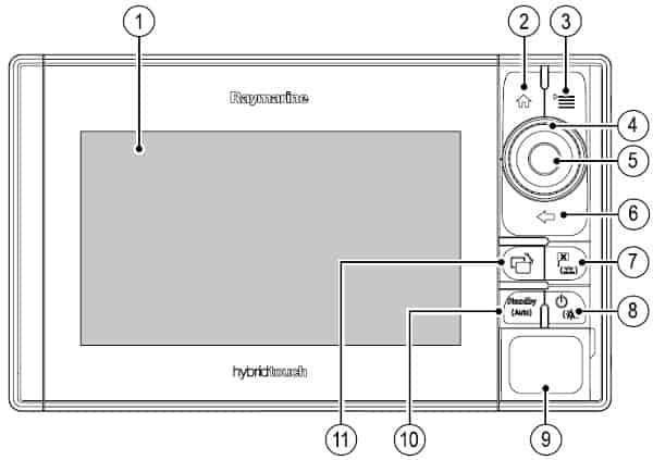 Raymarine eS98 - Keypad Controls