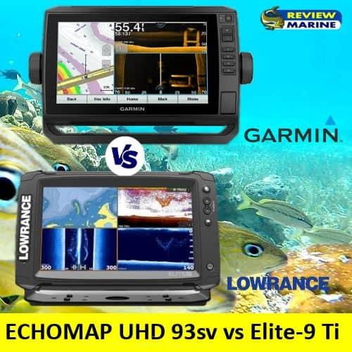 Garmin ECHOMAP UHD 93sv vs lowrance Elite-9 Ti