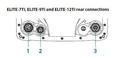 Lowrance Elite-9 Ti Rear Connections